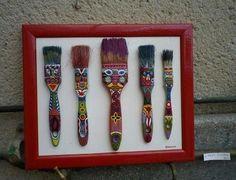 paint brushes as art Club D'art, Art Club, Paint Brush Art, Paint Brushes, Junk Art, Recycled Art, Art Classroom, Art Plastique, Teaching Art