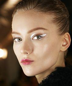 Silver futuristic makeup