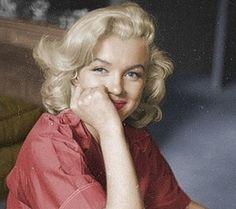 A shy Marilyn