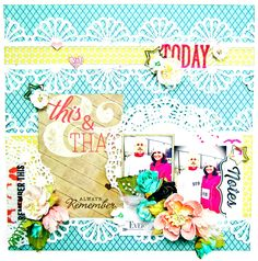 DT work for Scrap Around The World! I created this layout using the Sprinkled with Love and Recorded Collections by Allison Kreft Designs for Webster's Pages, Manor House Creations flowers, Scrapbook Adhesives BY 3L and the July 2014 Mood Board! #papercrafting #scrapbooking #allisonkreftdesigns #websterspages #recorded #sprinkledwithlove #scraparoundtheworld #scrapbookcom #adhesive #layout #scrapbookadhesivesby3l