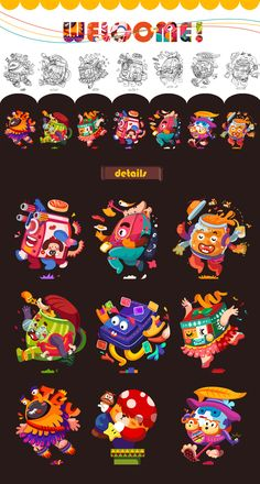 Showcase and discover creative work on the worlds leading online platform for creative industries. Graphic Design Art, Graphic Design Illustration, Graphic Design Inspiration, Cute Illustration, Character Illustration, Game Design, Icon Design, Mascot Design, Retro Logos