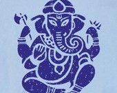 Mens, Unisex GANESH T Shirt - Tonal Diety Graphic Print Hindu T-Shirt (s,m,l, xl) American Apparel