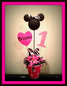 Minnie Mouse Birthday Centerpiece
