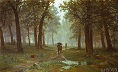 Iwan Iwanowitsch Schischkin - Oak Forest in the rain