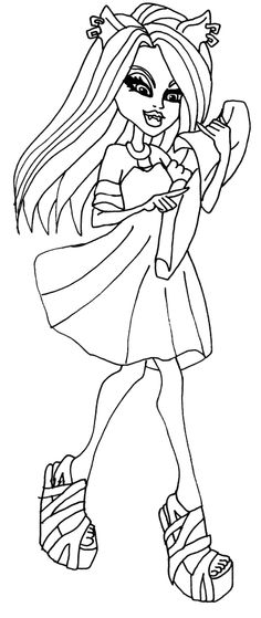 Clawdeen Wolf Walking Coloring Page