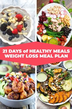 If you're looking for healthy, clean eating recipes for weight loss then check out this easy healthy meal plan! Clean eating diet made simple with budget-friendly meals, food swaps, & 51 easy healthy recipes for weight loss for breakfast, lunch and dinner Easy Healthy Meal Plans, Healthy Eating Meal Plan, Clean Eating Recipes For Weight Loss, Clean Eating Diet, Easy Healthy Dinners, Easy Healthy Recipes, Healthy Snacks, Quick Recipes, Eating Habits