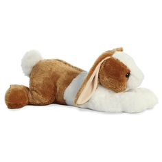 cdbffdad280a Jumbo Stuffed Brown and White Bunny Super Flopsie by Aurora Big Easter Gift  Easter Gift