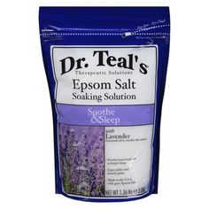 Dr. Teal's Epsom Salt Soaking Solution Soothe & Sleep. One of my friends recommended this for sore muscle relief during bath time. It's strongly aromatic and, if anything, it makes me feel special.