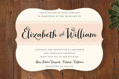 Chic Romantique Wedding Invitations