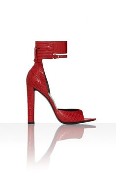 Alexander Wang Resort 2013 Red alligator d'orsay with ankle cuff