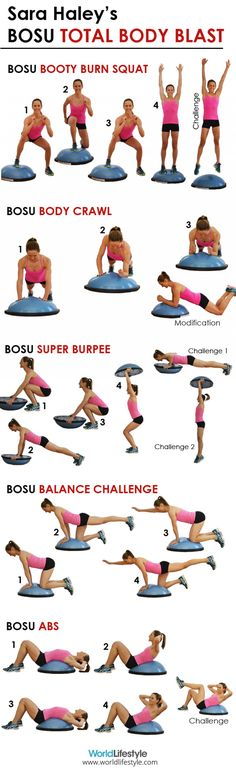 Sara Haley's BOSU Body Blast Infographic.