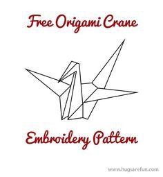 Linen Tea Towel Dish Cloth Origami Crane Block Printed