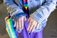 #Harajuku street2017 style #japan fashion #kawaii nails