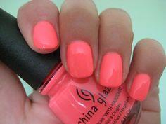 "China Glaze ""Flip Flop Fantasy"" a super popular color amongst our Mojo Spa clientele for summer"