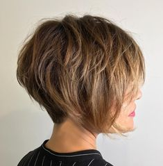 Tousled Layered Long Pixie