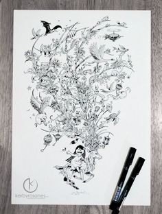 Incredible New Sketchbook Illustrations From Kerby Rosanes