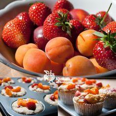 Kuchařka ze Svatojánu: OVOCNÉ MUFFINY Strawberry, Peach, Cupcakes, Fruit, Cookies, Crack Crackers, Cupcake Cakes, Biscuits, Strawberry Fruit