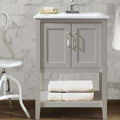 Water Creation Madalyn G Inch Cashmere Grey Single Sink - 24 inch farmhouse bathroom vanity
