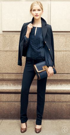 Tory Burch Beverly New Milano Jacket and Jamie Top