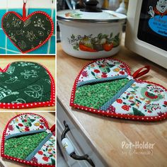 my hand-quilted pot holder, a Christmas gift