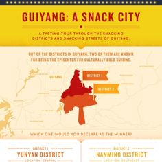A guide to a gastronomic adventure to one of China's vibrant city, Guiyang. Visit some of the best tasting local street snacks in two of the most famous districts in ...… Read More