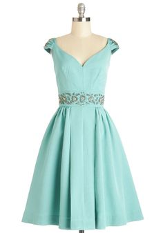Shindig by the Skyline Dress in Aqua | Mod Retro Vintage Dresses | ModCloth.com