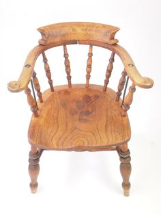 Antique Victorian Desk Chair/ Elm Smokers Bow / Captains Chair / Kitchen Chair Antique Lighting, Kitchen Chairs, Smokers, Desk Chair, 3d Design, Accent Chairs, Stairs, Farmhouse, Victorian