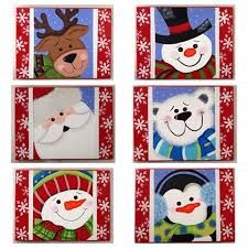 Resultado de imagen para individuales navideños en madera Christmas Decorations, Christmas Ornaments, Holiday Decor, Christmas Time, Merry Christmas, Vintage Christmas Cards, Wooden Crafts, Painting Patterns, Farm Animals