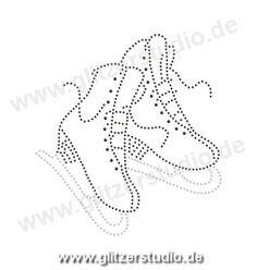 Strass Transfermotive U0027Schlittschuhe1u0027 Ein Schönes Geschenk 3411