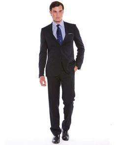 Savile Row Company - Dark Navy Slim Fit Suit