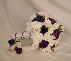 Wedding Flowers Purple Corsages Boutonnieres Parents Flowers Ivory