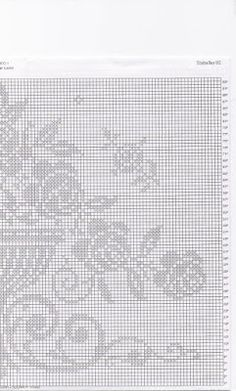 Crochet and arts: Cortinas Crochet Edging Patterns, Knitting Patterns, Daisy, Crochet Curtains, Filet Crochet, Handicraft, Cross Stitch, Embroidery, Crafts