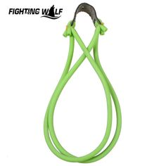 Strong Powerful 4 Strips Green Slingshots Rubber Band Durable Resilient Tube For Hunting Catapult Elastic Part Bungee Equipment