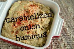 caramelized onion hummus @sarahlearnsblog #fitfluential