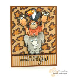 Coloring a Cheetah Print Background  Gerda Steiner Designs Go Wild stamp set, Gerda Steiner Designs Party Animals stamp set