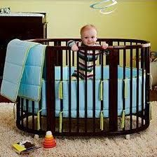 Round crib. I'm not sure I will ever need this but its so cool!
