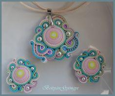 Tavaszi cukorka sujtás szett - Spring candy soutache Set Crochet Earrings, Pendant Necklace, Candy, Spring, Jewelry, Fashion, Moda, Jewlery, Jewerly