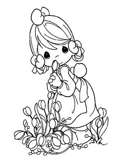 sweet moments coloring pages | Girl in the rain precious moments coloring pages ...