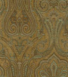 Waverly Upholstery Fabric-Clubroom Paisley Spa