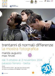 Mostra fotografica: Trentanni di Normali Differenze Dal 3 ottobre al 2 novembre. Orari:  venerdì dalle 18 alle 20.30  sabato e domenica dalle 15 alle 20.30