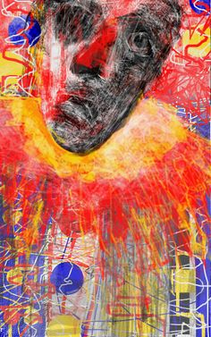 """Man Alive Clown Dead"" By Ruth Clotworthy Brisbane Australia, Portraits, Human Art, Art For Art Sake, Outsider Art, Old Master, Man Alive, Face Art, Expressionism"