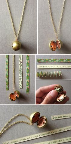 Vintage Lockets for bridesmaid gifts - from 100 Layer Cake