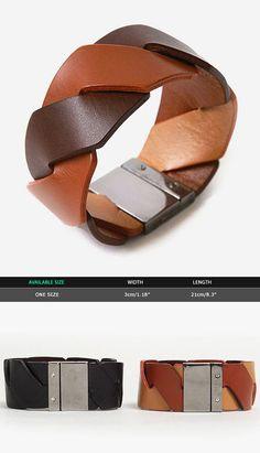 Accessories :: Bracelets :: Smart Reversible Leather Bracelet-Bracelet 25 - GUYLOOK Men's Trendy Fashion Clothing Online