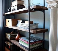 Industrial bookcase - Metal Bookcase - Reclaimed Bookcase -Wall Unit - Industrial Bookcase, Rustic Bookshelf, Industrial Furniture
