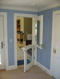 Custom Made Playroom Door. Good idea to keep dogs out but no have door totally shut!