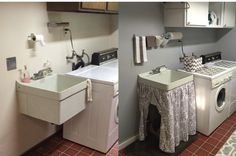 utility sink skirt to hide the cat's litter box
