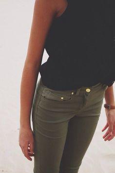 Love army green pants!