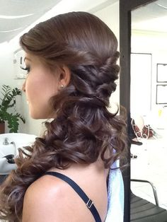 All Time Best Long Wedding Hairstyles 2018 with Curls and Waves - hair trends - Cabelo Casamento Side Hairstyles, Wedding Hairstyles For Long Hair, Wedding Hair And Makeup, Ponytail Hairstyles, Hairstyles 2018, Wedding Ponytail, Hair Wedding, Medium Hair Styles, Curly Hair Styles
