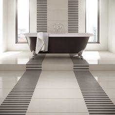 Wickes Grey Matt Porcelain Floor Tile 300x600mm Bathroom