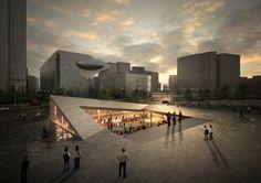 Anunciados os vencedores do concurso para projetar uma praça cultural em Seul,Seoul Living Room. Imagem: